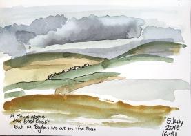 A cloud above the East Coast, Shetland