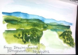From Drachensfels Hill