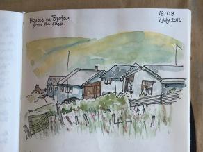 Houses in Bigton, Shetland