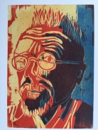 John Hurt, as woodcut