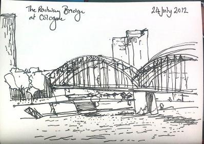 Railway Bridge at Cologne, Germany