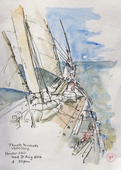 Seven knots towards Vatersay