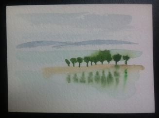 Trees on the Rhine