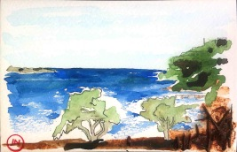 Trees on the Shore, Kalami, Crete