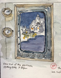 View out of the porthole