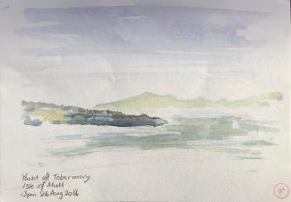 Yacht off Tobermory