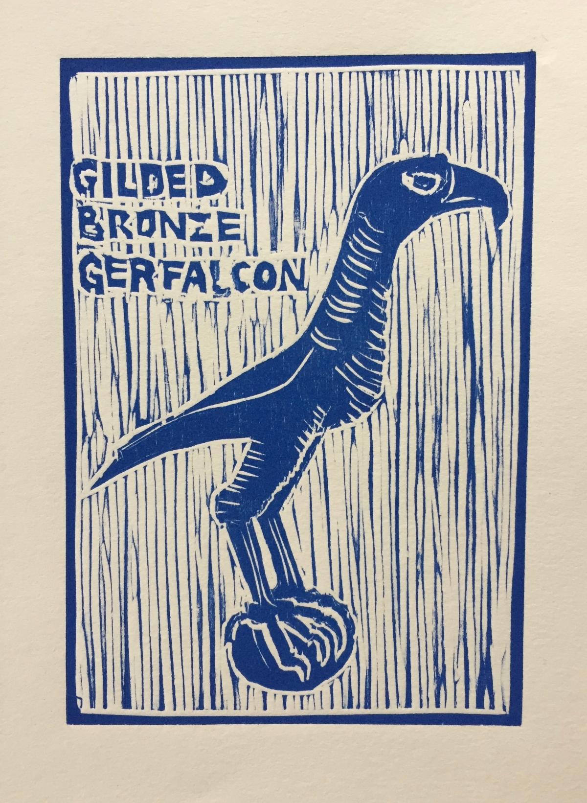 Gilded Bronze Gerfalcon