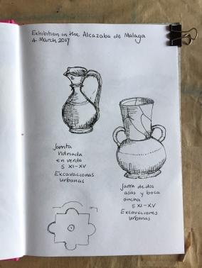 Pots in the Alcazaba, Malaga