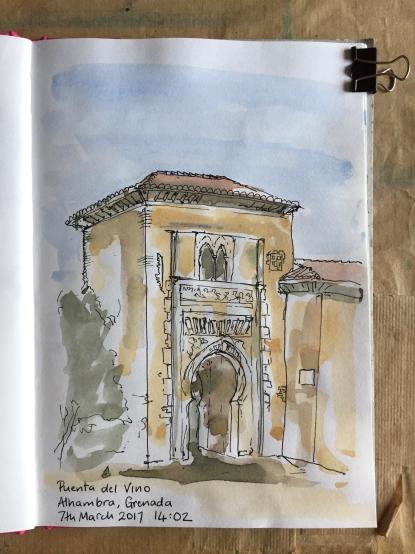 Puenta del Vino, Alhambra, Grenada