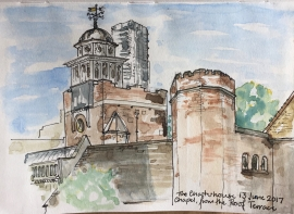 Charterhouse Chapel, from the Roof Terrace
