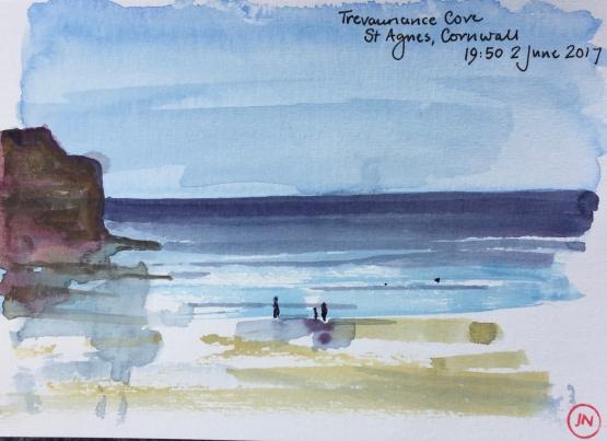 Trevaunance Cove - sun on the sea