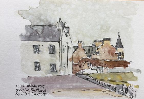 Lerwick, Shetland, from Fort Charlotte