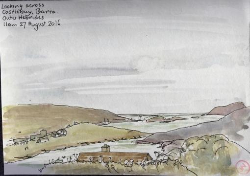 Looking across Castlebay, Barra