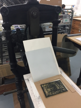 Woodblock on the Albion Press