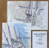"""Postcards and Business Card for """"Lady of Avenel"""""""
