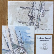 "Postcards and Business Card for ""Lady of Avenel"""