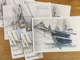 """Postcards for """"Lady of Avenel"""""""