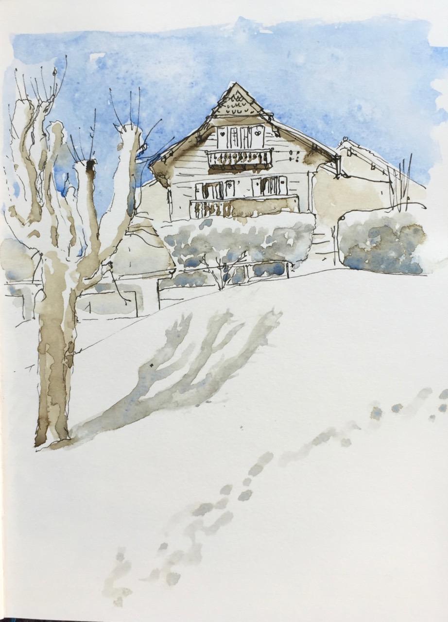 Snow in Sainte-Croix