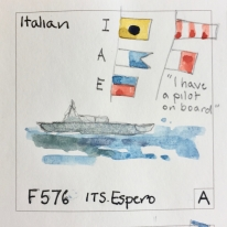 F576: frigate with missile systems and torpedoes