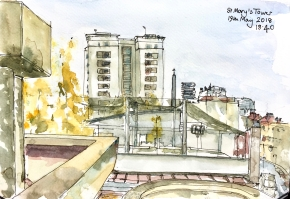 St Mary's Tower, sketch