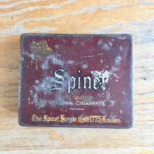 Old cigarette tin
