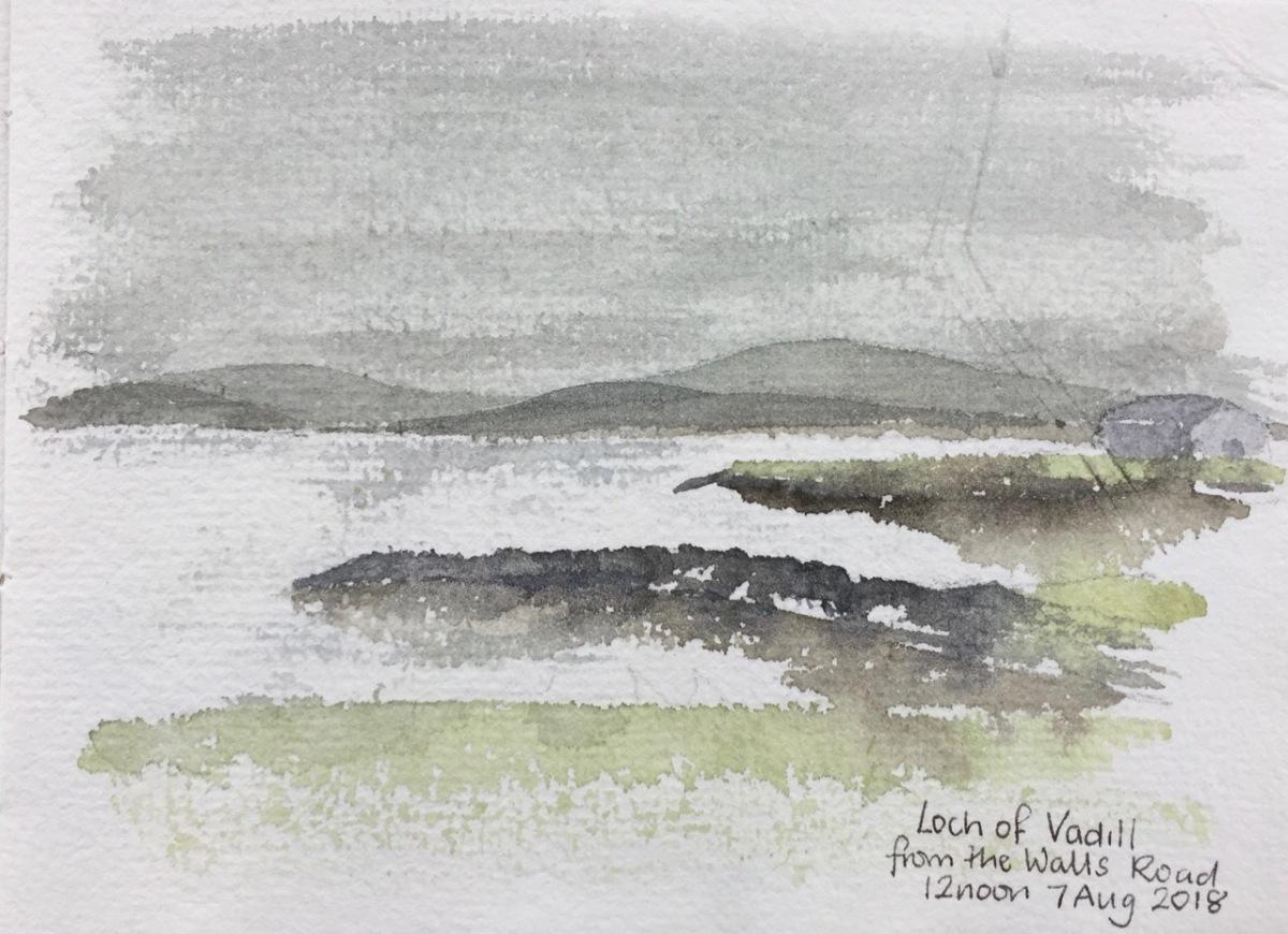 Sketching in Shetland,2018