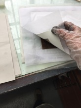Carefully lift the print paper. Did it stick?