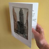 Etching: Greeting Card