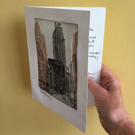 Etching: Greeting Card