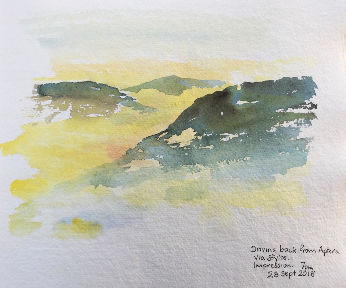 Sketches in Crete – Sept 2018