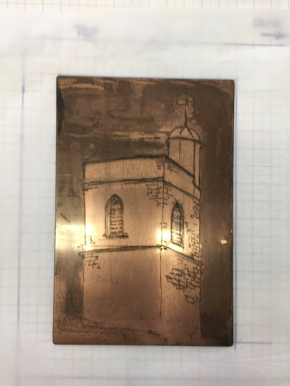St Bartholomew the Less – etchings(1)