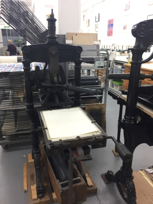Albion press for relief printing