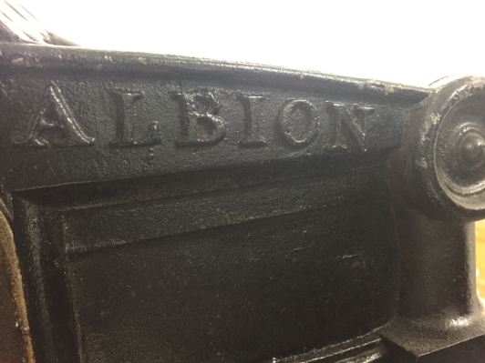 Albion press nameplate