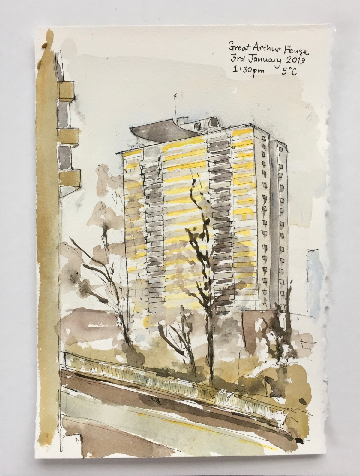 Great Arthur House from the BarbicanPodium