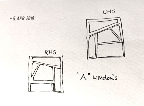 My sketches of the windows