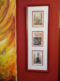 Three etchings in an art collection