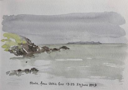 Foula, from Uskie Geo