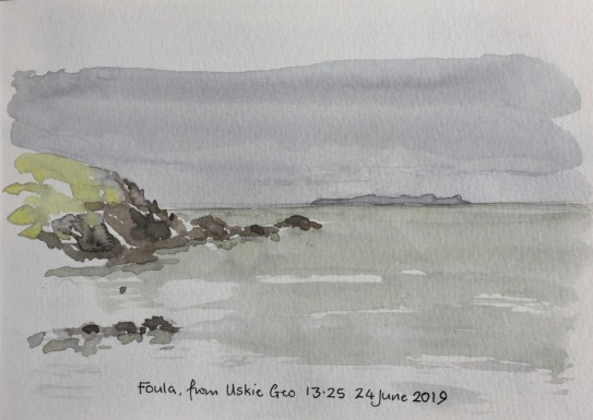Foula, from Uskie Geo
