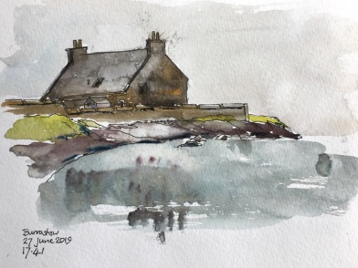 A sketch done on the beach at Burrastow