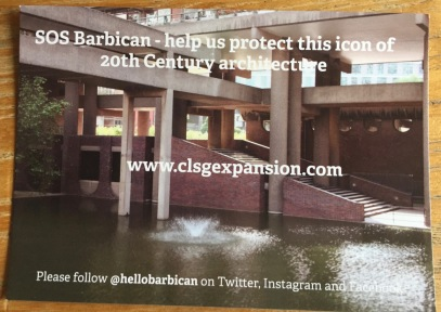 Postcard campaign by Barbican Residents