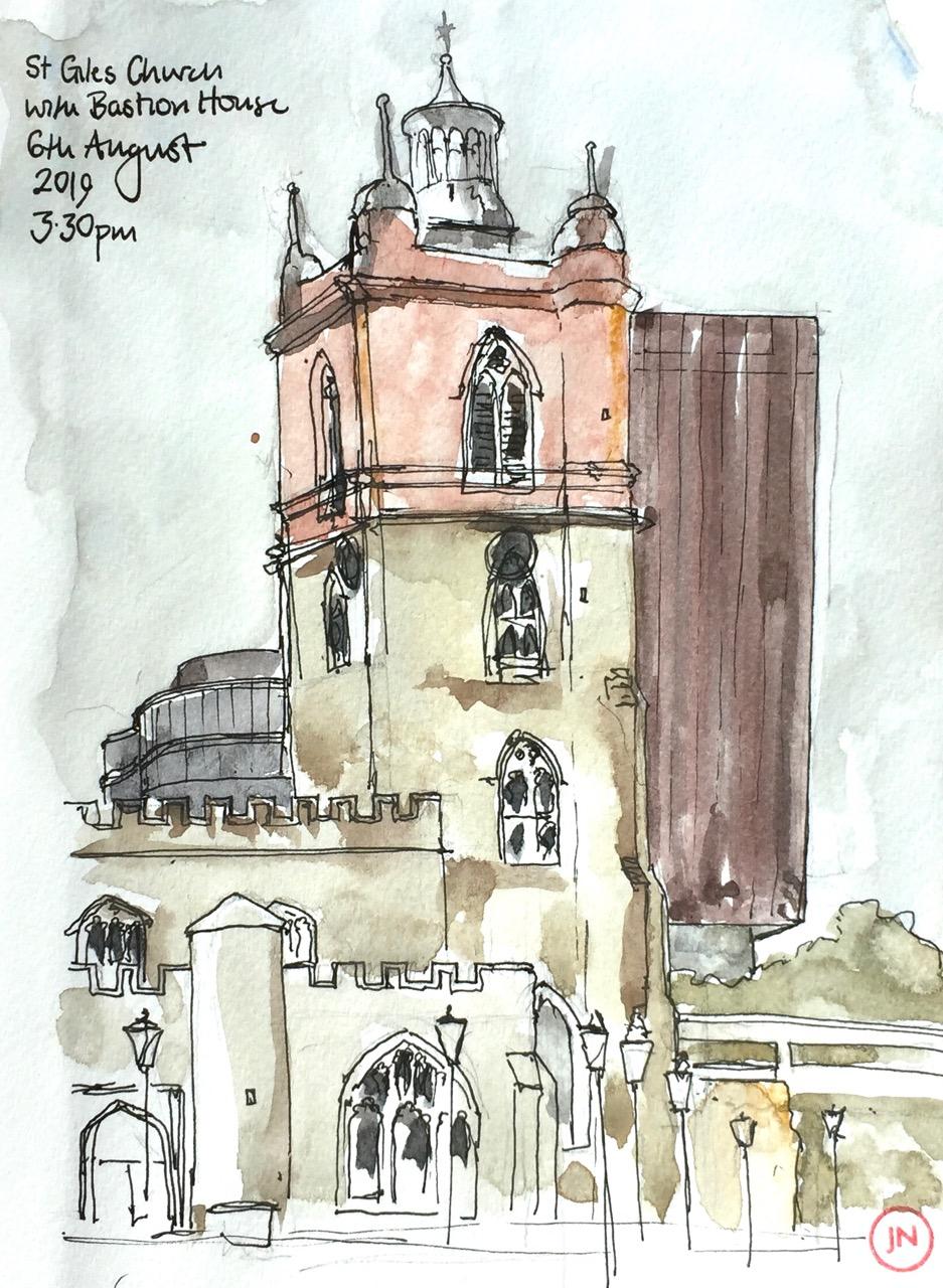 A quick sketch of St GilesChurch