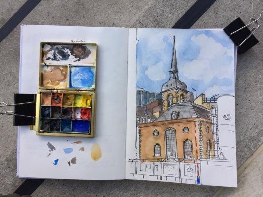 Watercolour in progress