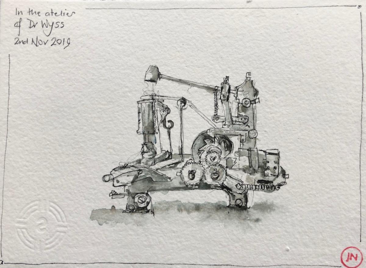 Sainte-Croix: l'Atelier de mécanique ancienne du DrWyss