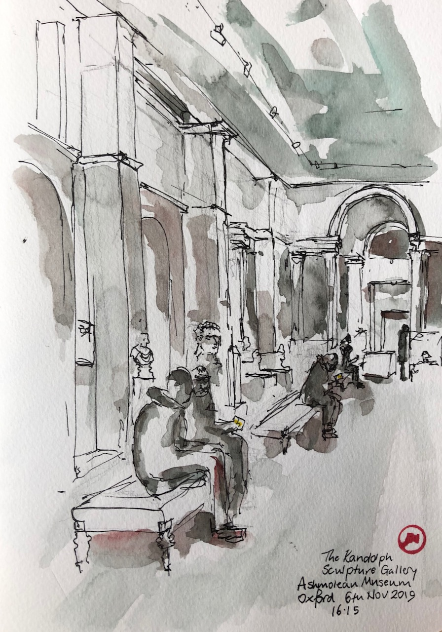 Sketching in the Ashmolean Museum