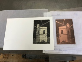 The print and the copper plate