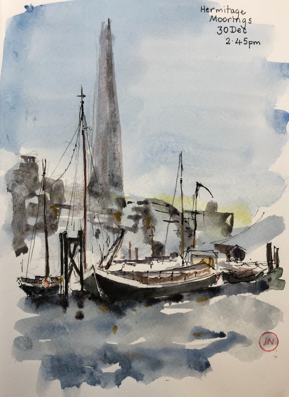 Hermitage Moorings and TheShard