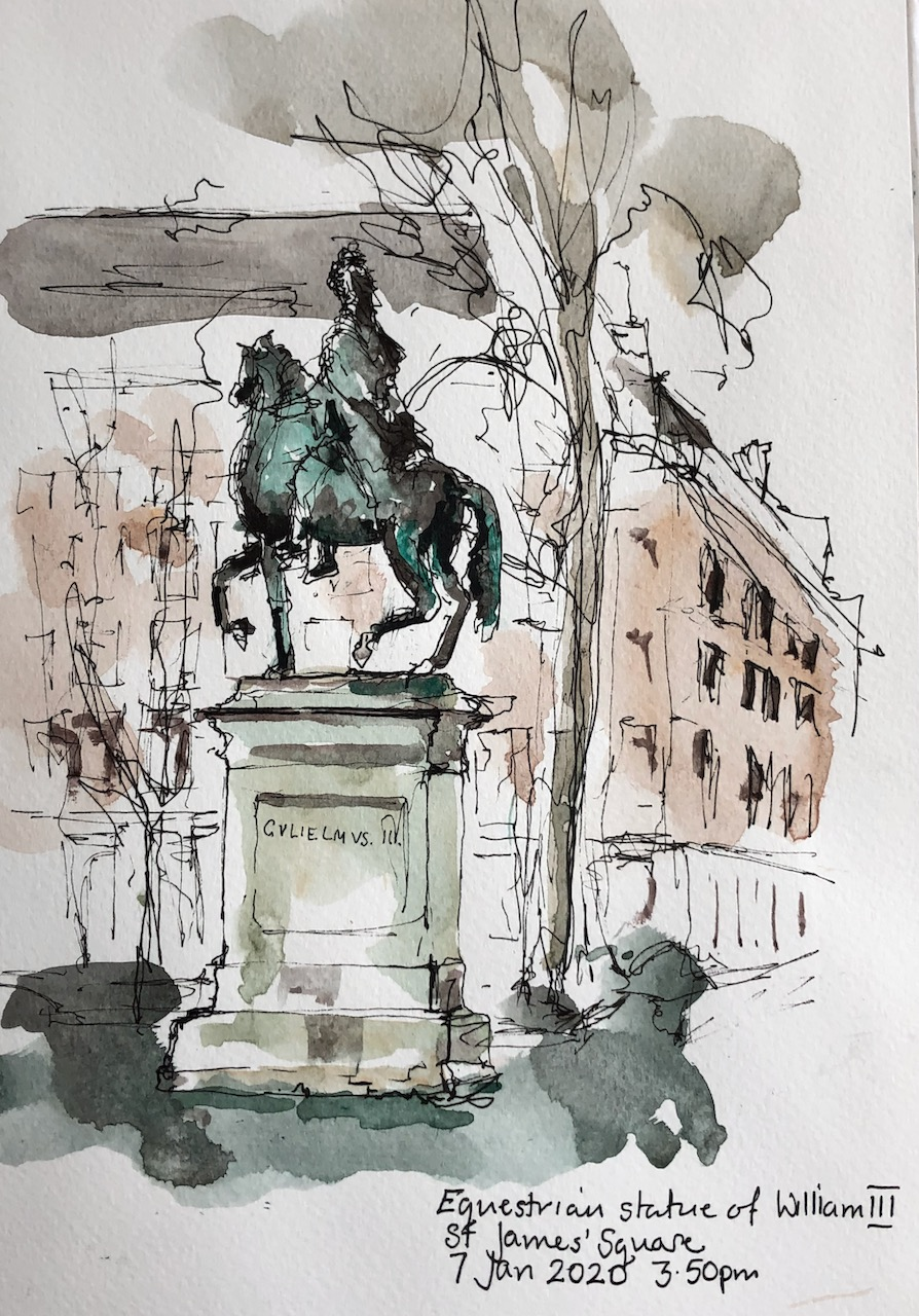 Equestrian Statue of William III