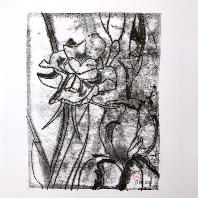 Iris: monoprints