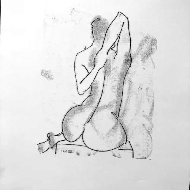 Online life drawing –Laetitia