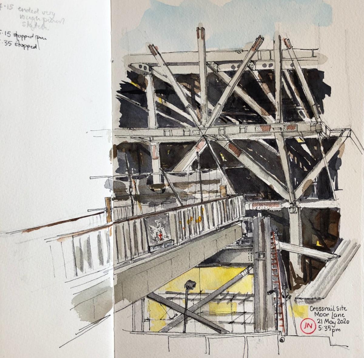 Crossrail site, Moor LaneEC2